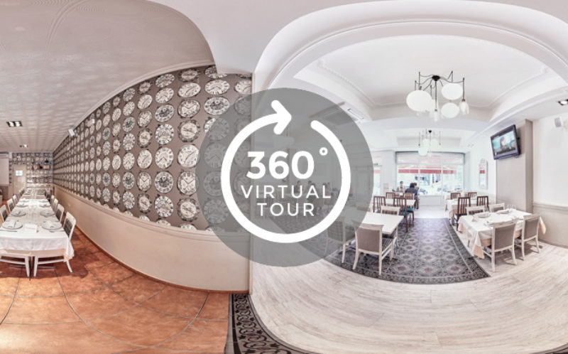 Visita virtual Google Street View, restaurante A Coruña