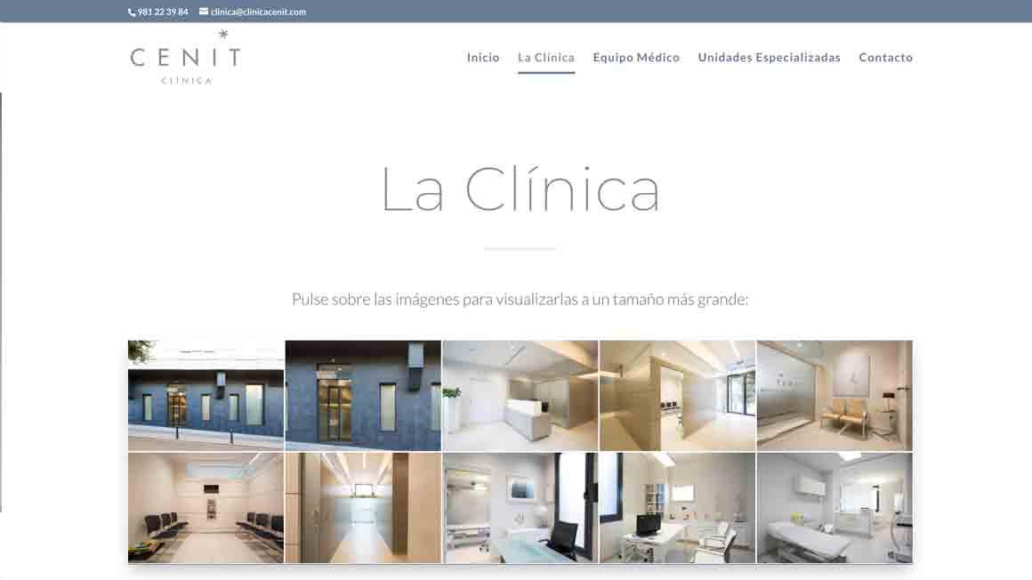 Rediseño de pagina web para Clínica Cenito