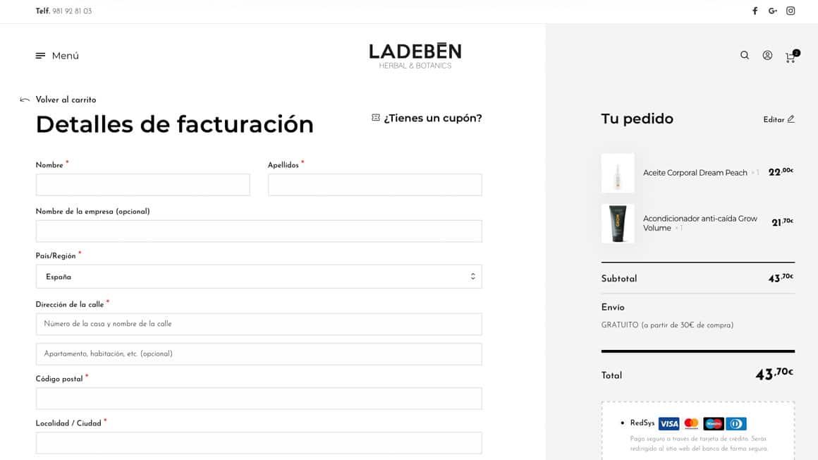 Diseñador Web Freelance. Diseño de tienda online.