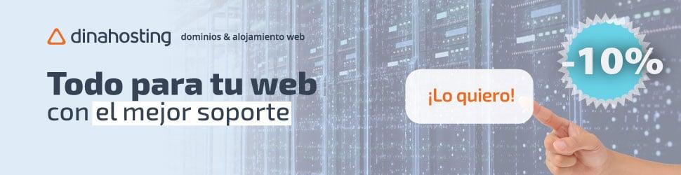 Dinahosting: dominios e aloxamento web